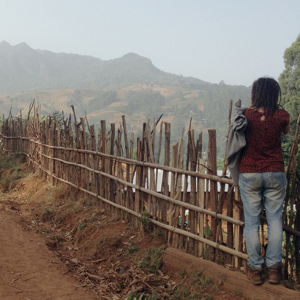 a person standing looking at horizon in Cameroon