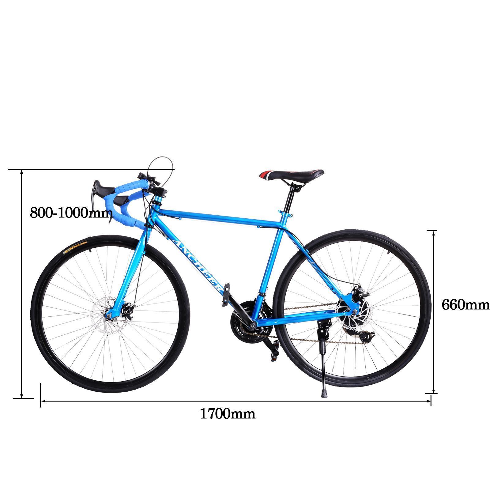 Mens 26inch Carbon Steel Road Bike Racing 700c Bicycle 21