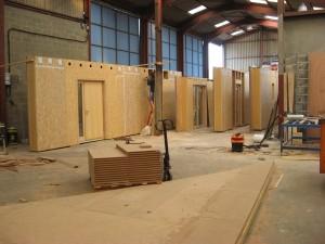 Préparation Ossature bois Maison passive