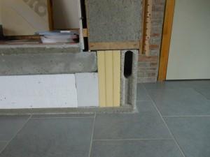 Isolation de la dalle d'un maison passive