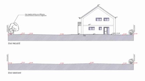 Plan coupe permis de construire maison passive