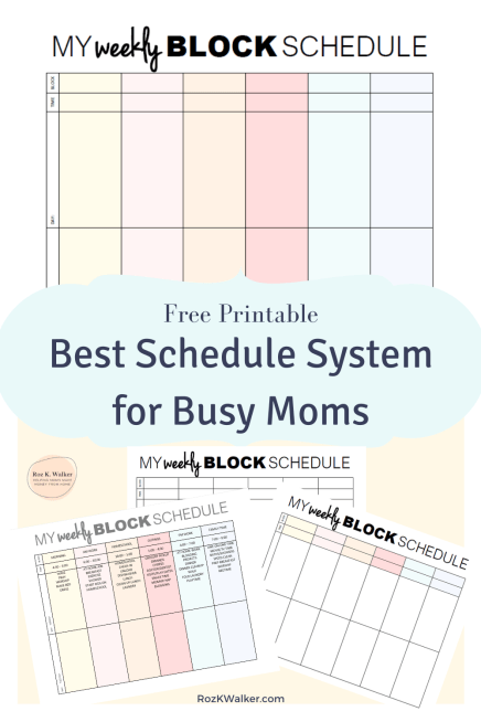Weekly Blog Schedule System best planner for work at home moms 2021