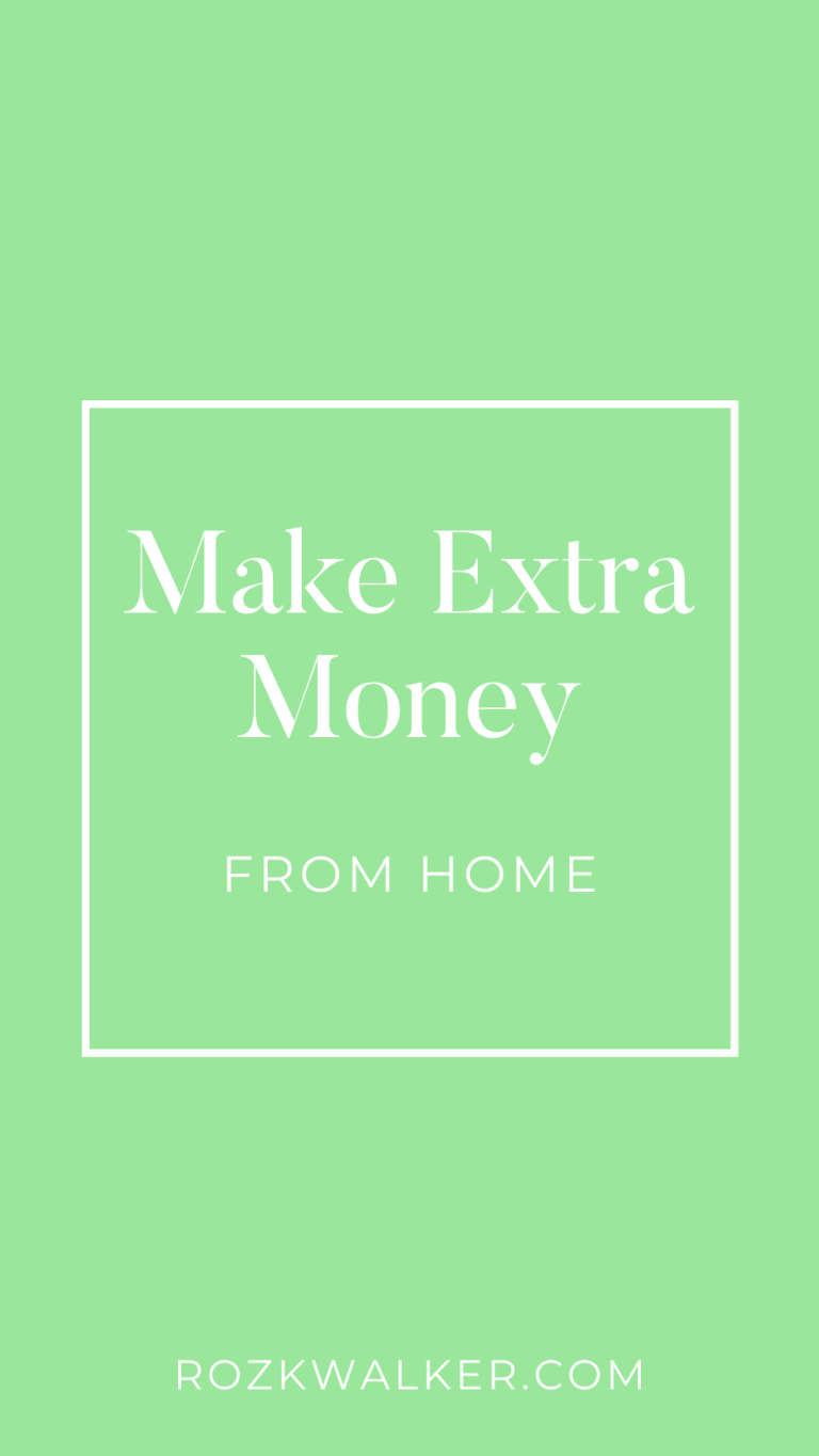 How To Make an Extra $500 a Month from Home