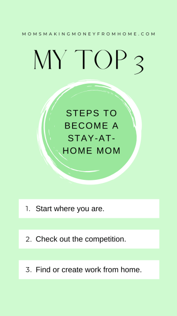 Text Steps to take when want to be a stay at home mom