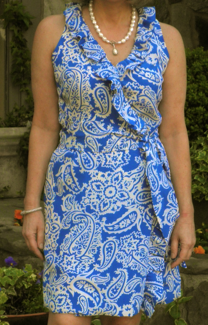 Goodbye Valentino | Simplicity 7715 – Kate Spade Aubrey Wrap Inspired