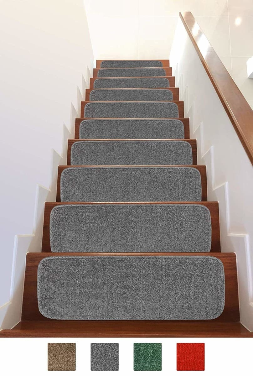 Add Different And Elegant Touch To Your House A Carpet Stair   Carpet Down Middle Of Stairs   Stair Rods   Wood   Hardwood   Steps   Laminate Flooring