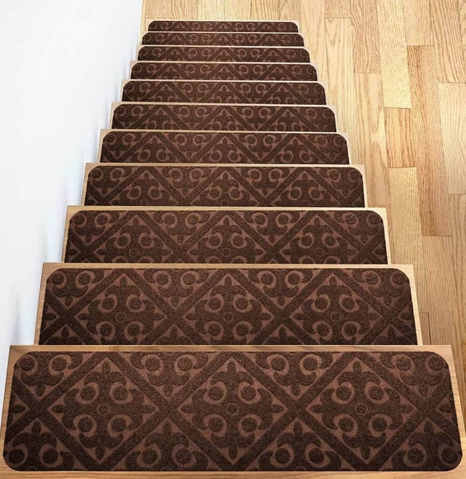 Add Different And Elegant Touch To Your House A Carpet Stair | Decorative Carpet For Stairs | Rectangular Cord Treads | Gingham | Brown | Animal Print | Stair Runner Matching Landing
