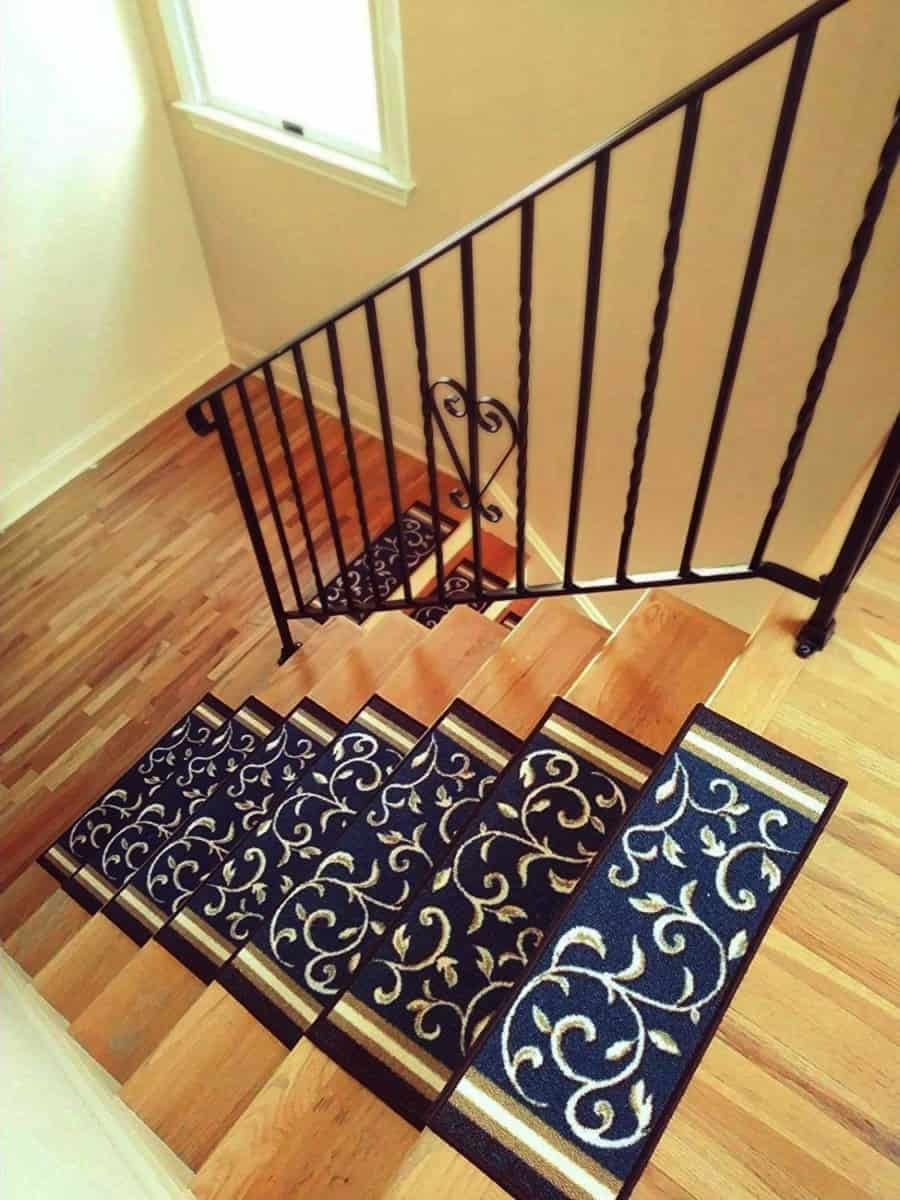 Add Different And Elegant Touch To Your House A Carpet Stair | Non Slip Stair Treads Carpet | Self Adhesive | Slip Resistant Rubber Backing | Step | Semi Circle | Adhesive Padding
