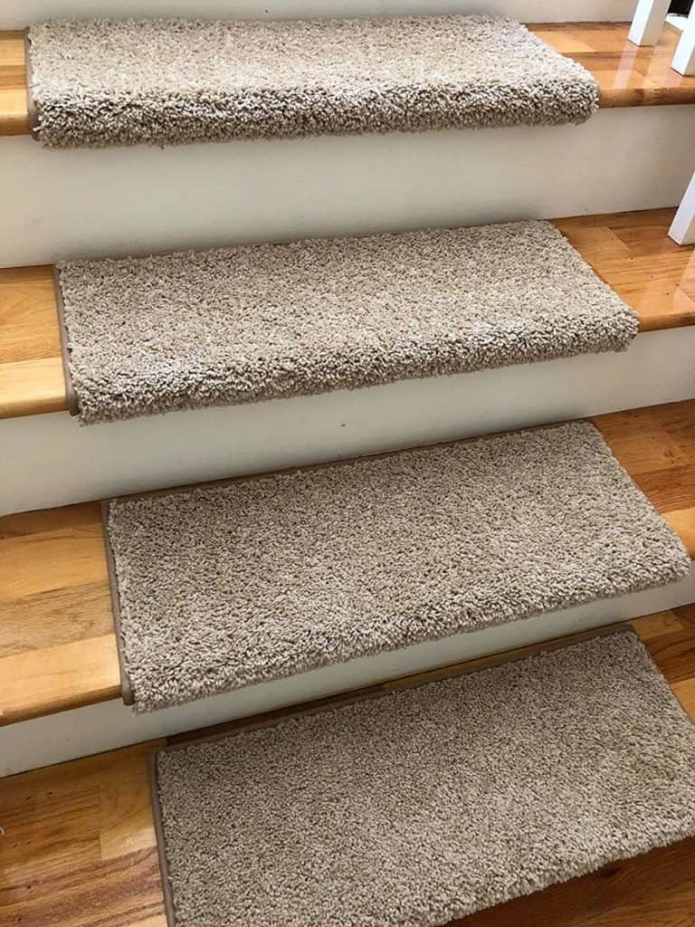 Carpet Treads For Stairs Why They Are Needed Which Properties   Thick Carpet Stair Treads   Non Slip   Cut Pile   Bullnose Carpet   Slip Resistant   Flooring
