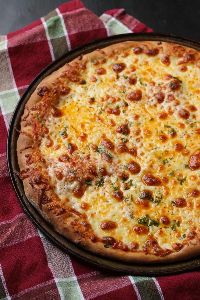 Easy Cheese Pizza with Homemade Pizza Sauce - Good Cheap Eats