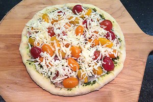 cherry tomato pizza