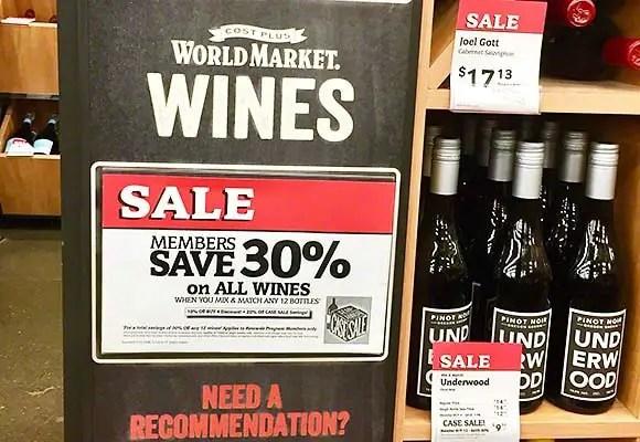 world market wine case sale