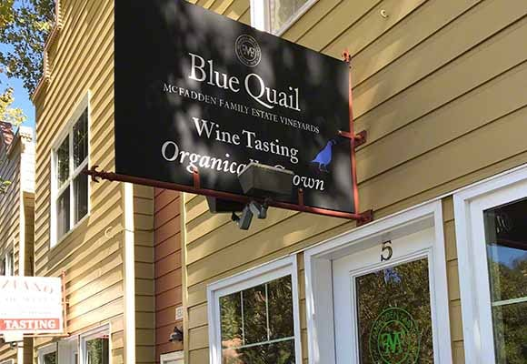 Blue Quail tasting room in Hopland