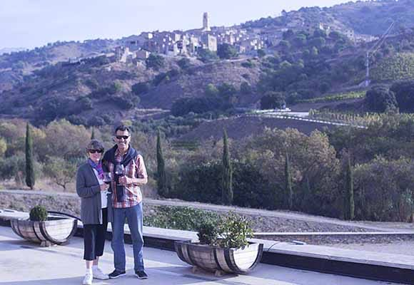 Janelle and Joe in the Priorat at Bodegas Mas Alta