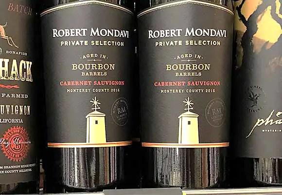 Robert Mondavi bourbon barrel aged Cabernet
