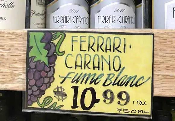 Good price for the Ferrari-Carano Fum
