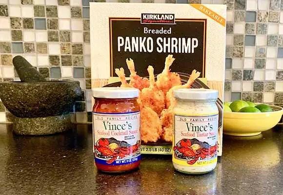 Panko Breaded Shrimp - $7.99 for blah - Cocktail sauce from Lunardi's Market