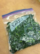 Finished product: blanched kale