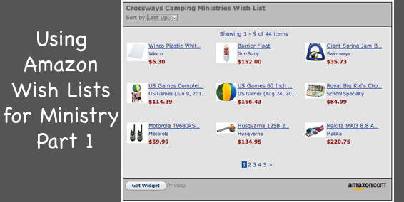 Using Amazon Wish Lists for Ministry Part 1