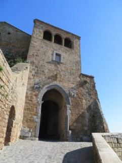Ancient Etruscan gate in Cività