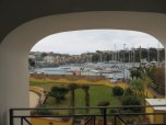 Nice view over the marina from our room.