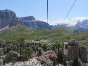 Looking back toward the Passo Sella.