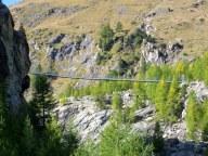Furi Suspension Bridge, 100 meters long, 90 meters above the gorge.