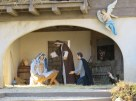 Close up of the creche in Piazza San Pietro.