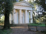 """Tempietto, Villa Ada. The """"little temple"""" was often a feature in the garden of a great house. This one was probably once associated with the palazzo that is now the Egyptian Embassy."""