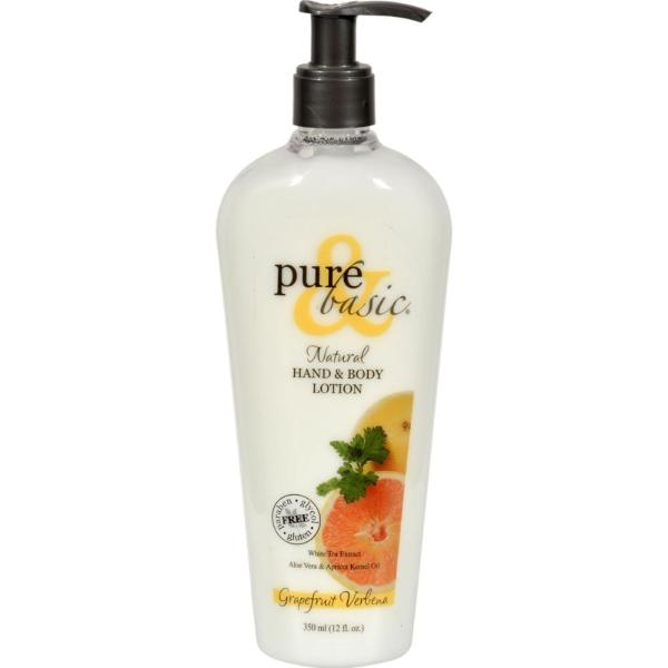 Pure and Basic - Grapefruit Verbena Bath And Body Lotion ( 1 - 12 FZ) %count(alt)