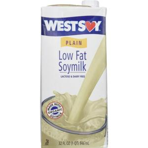 plain low-fat soy milk