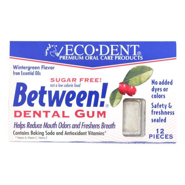 Eco-Dent Between Dental Gum - Wintergreen - Case of 12 - 12 Pack %count(alt)