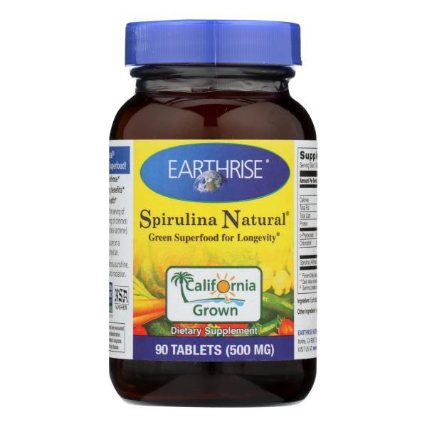 Earthrise Spirulina - 500 mg - 90 Tablets %count(alt)