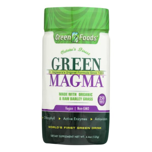 Green Foods Dr Hagiwara Green Magma Barley Grass Juice Powder - 250 Tablets %count(alt)
