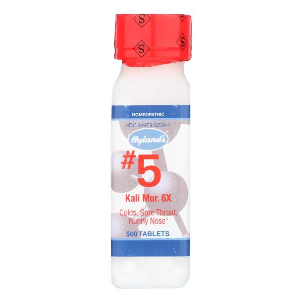 Hyland's No.5 Kali Mur. 6x - 500 Tablets %count(alt)