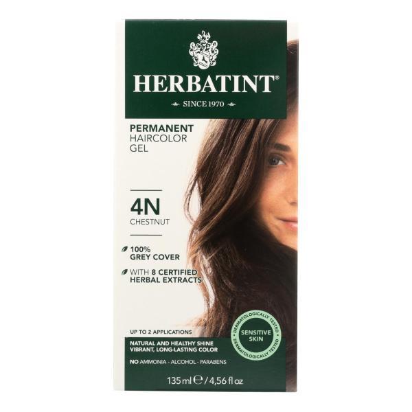 Herbatint Permanent Herbal Haircolour Gel 4N Chestnut - 135 ml %count(alt)