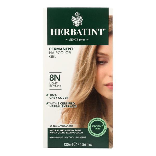 Herbatint Permanent Herbal Haircolour Gel 8N Light Blonde - 135 ml %count(alt)