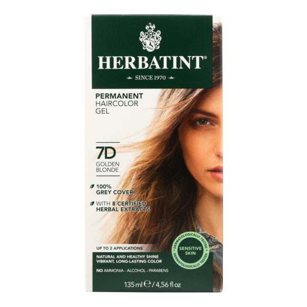 Herbatint Permanent Herbal Haircolour Gel 7D Golden Blonde - 135 ml %count(alt)