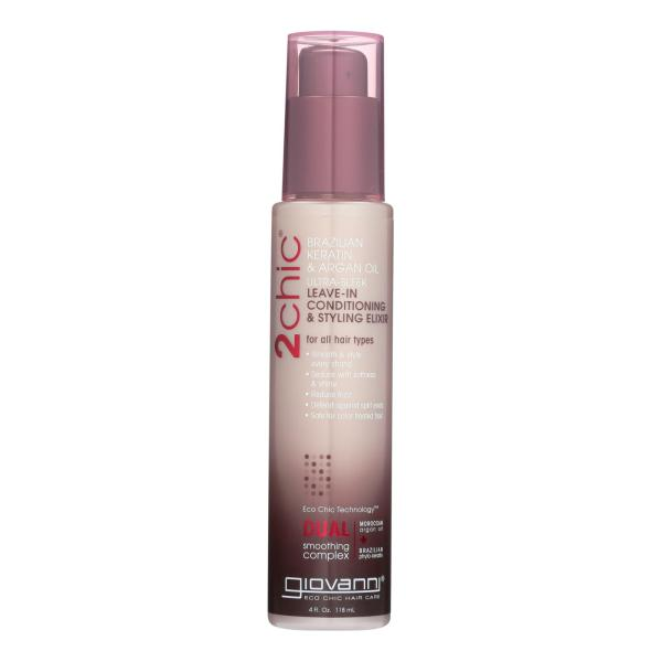 Giovanni 2chic Ultra-Sleek Leave-In Conditioning and Styling Elixir with Brazilian Keratin and Argan Oil - 4 fl oz %count(alt)