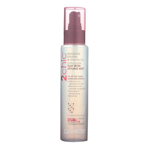Giovanni 2chic Flat Iron Styling Mist with Brazilian Keratin and Argan Oil - 4 fl oz %count(alt)