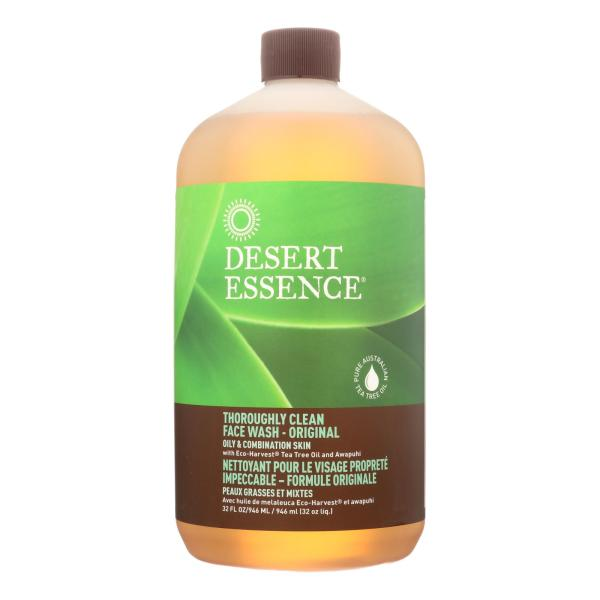 Desert Essence - Thoroughly Clean Face Wash - Original Oily and Combination Skin - 32 fl oz %count(alt)