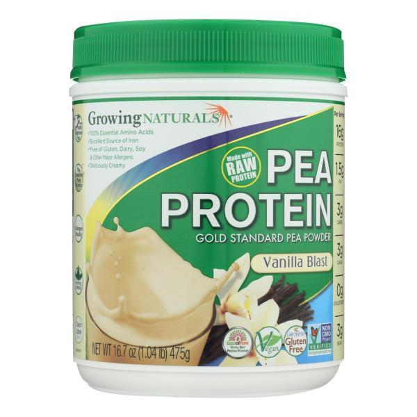 Growing Naturals Yellow Pea Protein - Vanilla Blast - 16 oz %count(alt)