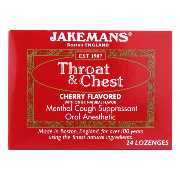 Jakemans Throat and Chest Lozenges - Cherry - 24 Pack %count(alt)