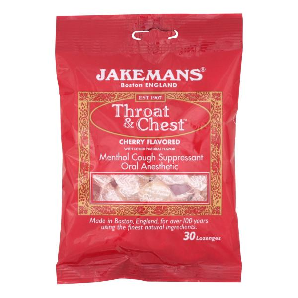 Jakemans Throat and Chest Lozenges - Cherry - Case of 12 - 30 Pack %count(alt)