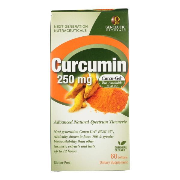 Genceutic Naturals Curcumin - 250 mg - 60 Softgels %count(alt)
