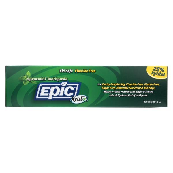 Epic Dental - Fluoride Free Xylitol Toothpaste - Spearmint - 4.9 oz %count(alt)