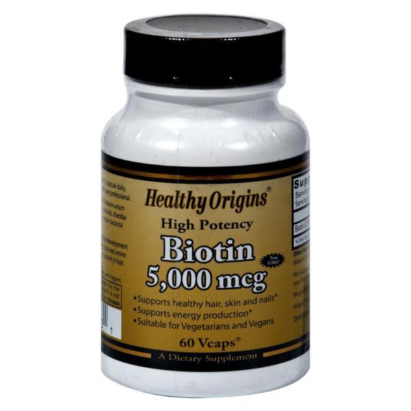 Healthy Origins Biotin - 5000 mcg - 60 Vcaps %count(alt)