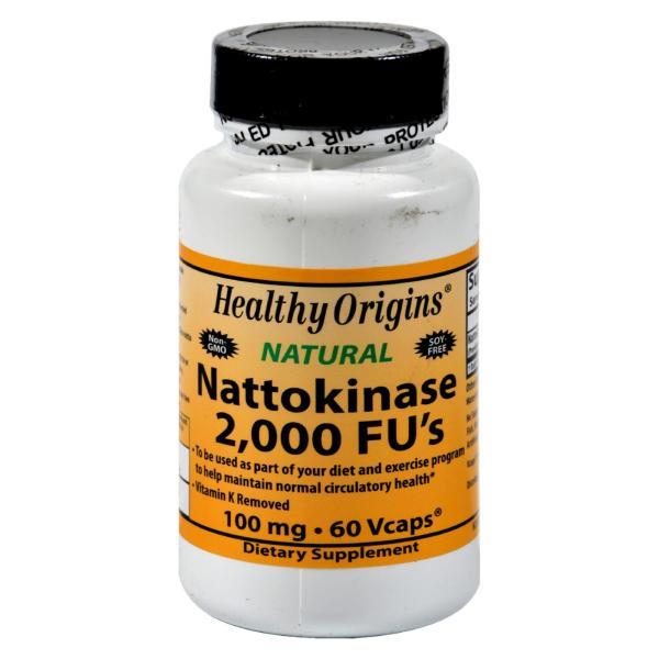 Healthy Origins Nattokinase 2000 FUs - 100 mg - 60 Vcaps %count(alt)