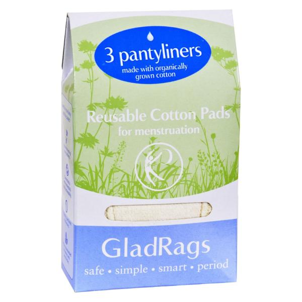 Gladrags Pantyliner Organic Undyed Cotton - 3 Pack %count(alt)