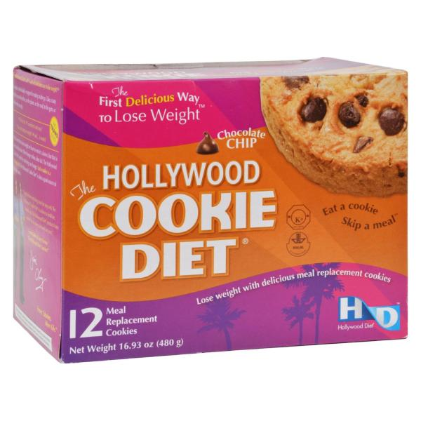 Hollywood Diet Miracle Products Cookie Diet Meal Replacement Cookie Chocolate Chip - 12 Cookies %count(alt)